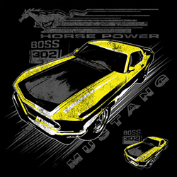 Men's Ford Mustang Vintage Muscle Classic Cars T Shirts Clothing Supplier Wholesale in Bulk - 21280D1-1