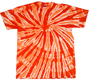 Wholesale T-Shirt Bulk Suppliers - All Twist Tie Dye COLORTONE - Tie Dye USA - TWIST ORANGE