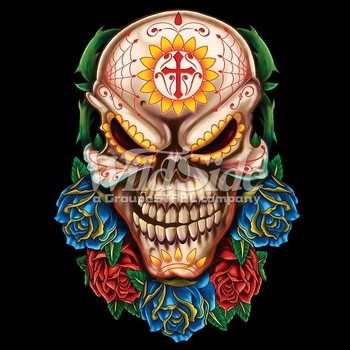 Wholesale Skulls, Bulk T Shirts, Wholesale T Shirts, Suppliers, Apparel - 17565-10x14-evil-day-dead-skull
