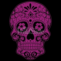 Wholesale Skulls, Bulk T Shirts, Wholesale T Shirts, Suppliers, Apparel - 18010-9x12-pink-day-dead-skull