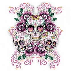Skull T Shirts, Cheap Online Sale At Wholesale Prices - Sugar Skulls  Floral Background a2412a