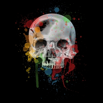 Wholesale Skulls, Bulk T Shirts, Wholesale T Shirts, Suppliers, Apparel - p-80536-10x14-skull-splatters