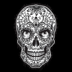 Wholesale Skulls, Bulk T Shirts, Wholesale T Shirts, Suppliers, Apparel - p-80538-10x14-sugar-skull-eyes