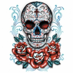 Skulls, Bulk T Shirts, Wholesale T Shirts, Suppliers, Apparel - Sugar Skull  Roses a10201g