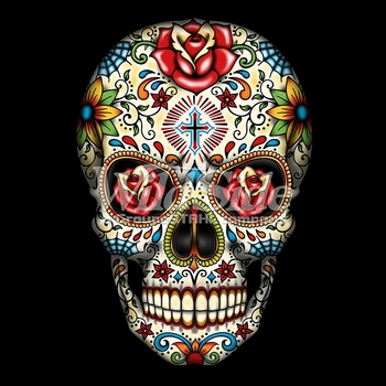 Skulls, Bulk T Shirts, Wholesale T Shirts, Suppliers, Apparel - Sugar Skull With Roses a10676f