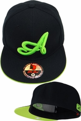 Wholesale Suppliers Wholesalers, Products - Snapback Hats & Hats | Wholesale Caps & Hats - F2-116 Black Tone Black N.Green