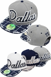 Wholesale Suppliers Wholesalers, Products - Snapback Hats & Hats | Wholesale Caps & Hats - FS-415 Dallas Plaid Snapback
