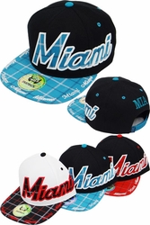 Wholesale Suppliers Wholesalers, Products - Snapback Hats & Hats | Wholesale Caps & Hats - FS-416 Miami Plaid Snapback