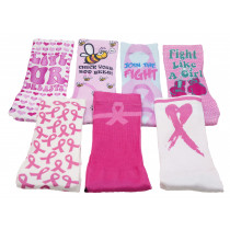 Breast Cancer Awareness Socks Cheap, Wholesale, Bulk, Discount - Sublimity Breast Cancer Awareness Socks