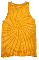 Wholesale Tie Dye Apparel Tank Tops - SPIDER GOLD