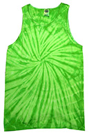 Wholesale Tie Dye Apparel Tank Tops - SPIDER LIME