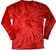 Wholesale Clothing - Long Sleeve Tie Dye T Shirts, Apparel, Wholesale, Bulk, Supplier - SPIDER RED