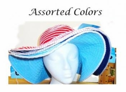 Wholesale Convenience Store Supplies - STRIPED FLOPPY HAT