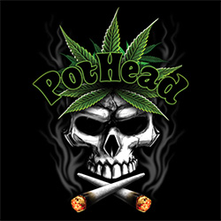 Pot Head T-Shirt Supplier, USA Made T-Shirts Bulk Wholesale Gildan Men's Women's - 20842D2-1