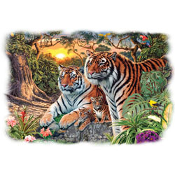 Wholesale Bengel Tiger Big Cat T-Shirt Supplier, USA Made T-Shirts Bulk Wholesale Gildan Men's Women's - 21004HL2-1