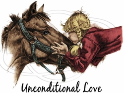 Unconditional Love Horse Girl T-Shirt Supplier, Wholesale Supplier of Funny T-Shirts in Bulk - P-1949