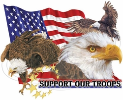 Support our Troops T Shirts Wholesale Bulk Supplier - P-211