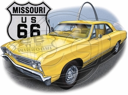 Missouri Route 66 Car T-Shirt Supplier, Wholesale Supplier of Funny T-Shirts in Bulk - POS-472