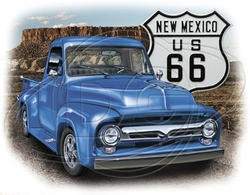 New Mexico Route 66 Car T-Shirt Supplier, Wholesale Supplier of Funny T-Shirts in Bulk - POS-474