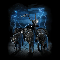 Wholesale Biker T Shirts Wolf Men's Clothes Cheap Online Drop Shipping - MSC Distributors - 20485D0-1