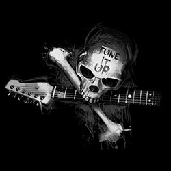 T Shirts, Guitar, Skull, Graphic, Men's, Wholesale - 21670ED2-1