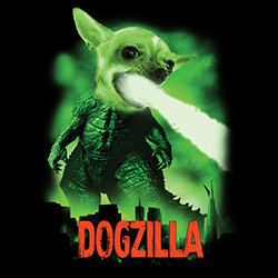 T Shirts, Funny, Dogzilla, Graphic, Men's, Wholesale - 21686D2-1