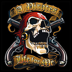 T Shirts, Pirate, Graphic, Men's, Wholesale - 21905HD2-1
