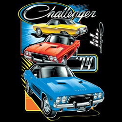 Dodge Challenger T-shirts Wholesale, Men's, Classic Cars, Wholesale Clothing, Car T-Shirts Wholesale Suppliers - CHALLENGER TRIO 20417HD2-2T