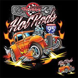 Bulk, Apparel - Wholesale T Shirts Classic Cars T Shirts Clothing Supplier Wholesale in Bulk - CUSTOM GARAGE HOT ROD 20966D1-2T