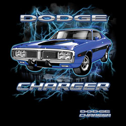 Dodge Charger Vintage Classic Car Clothing, Women�s Men's Vintage Apparel - DODGE CHARGER 20337HD1-2T