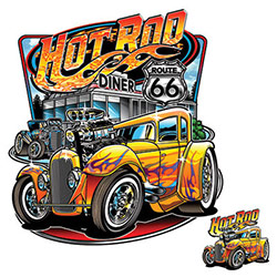 T-shirts Wholesale, Men's, Classic Cars, Wholesale Clothing, Car T-Shirts Wholesale Suppliers - HOT ROD DINER 20965HD1-2T
