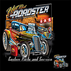 Wholesale Products - Men's Women's Adult Hot Rod Roadster T Shirts - MSC Distributors