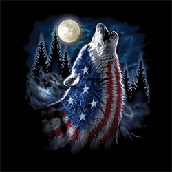 Wholesale Military Goods Suppliers - FLAG WOLF AMERICANA  20969D1-1