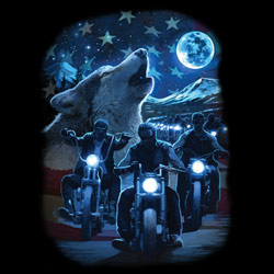 T-Shirts Wholesale, Biker, Men's, Patriotic Suppliers - WOLF RIDE  20486D0-1