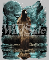 T Shirts Hats Wholesale Bulk Supplier Native American - p-38879-9999-10x13-indian-wolf