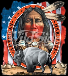 T Shirts Hats Wholesale Bulk Supplier Native American - p-39385-5841-12x13-indian-american-heritage