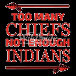 T Shirts Hats Wholesale Bulk Supplier Native American - p-77030-17753-12x14-too-many-chiefs-not-enough-indians