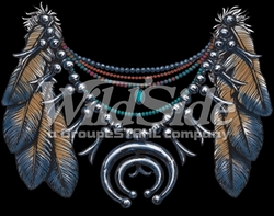 T Shirts Hats Wholesale Bulk Supplier Native American - p-78086-9894-13x10-native-american-feathers