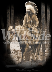 T Shirts Hats Wholesale Bulk Supplier Native American - p-79266-11268-9x12-journey-home-indian-chief