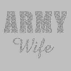 Men's Women's Adult Wholesale Clothing - Custom Personalized Bulk Wholesale Shirts - Army Wife - 7268