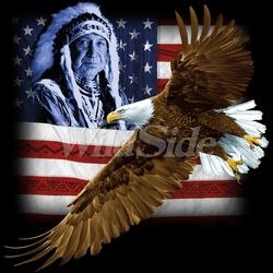 Fashion Patriotic Clothing For Men, Wholesale Bulk Supplier - Eagle Native American T-Shirts, Tees, Hats, Patriotic, American Flag, Cheap, Online, Wholesale - 18890