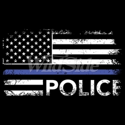 Police Blue Line T-Shirts, Tees, Hats, Patriotic, American Flag, Cheap, Online, Wholesale - 19576