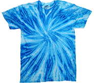 Tie-Dye T-Shirts, Hoodies & Other Clothing - Cheap Bulk Prices - Wholesale T Shirts - Short Sleeve, Tie Dye, Adult, Men's, Women's, Kids - NEON BLUEBERRY