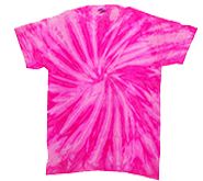 T Shirts Hats Wholesale Bulk Supplier Tie Dye - NEON BUBBLEGUM - MSC Distributors