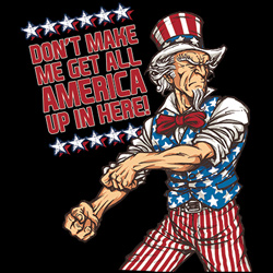 Wholesale T-Shirts, Uncle Sam, Biker, Eagle, Patriotic, Clothing, Apparel, Bulk - 19407D1-1