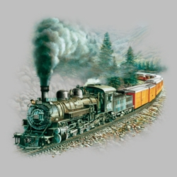 Train T Shirts Wholesale Bulk Graphic Printed Suppliers - 05820HL2