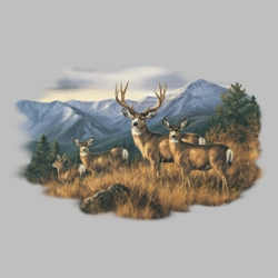 Wholesale Clothing, Deer T Shirts Wholesale Bulk Graphic Printed Suppliers - 11812HL2