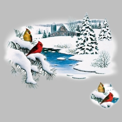 Winter Scene T Shirts Wholesale Bulk Graphic Printed Suppliers - 14198I2
