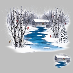 Winter Scene T Shirts Wholesale Bulk Graphic Printed Suppliers - 14199I2