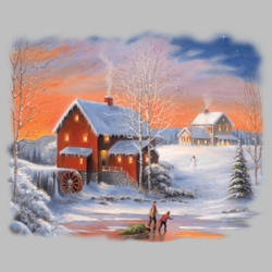 Winter Scene T Shirts Wholesale Bulk Graphic Printed Suppliers - 18361I2